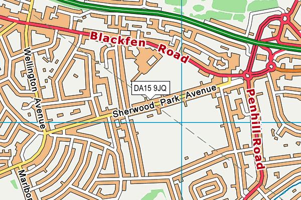 DA15 9JQ map - OS VectorMap District (Ordnance Survey)