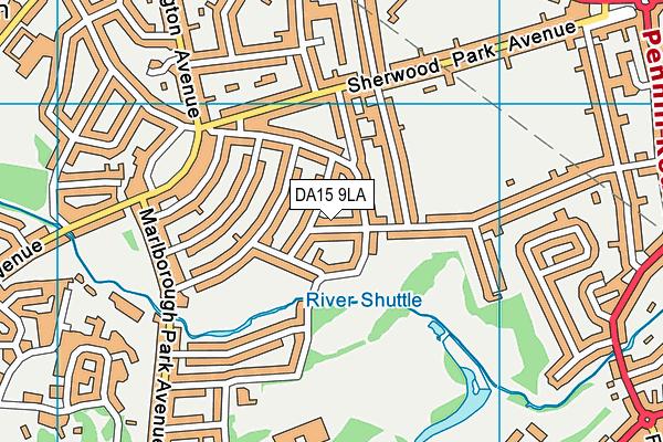 DA15 9LA map - OS VectorMap District (Ordnance Survey)