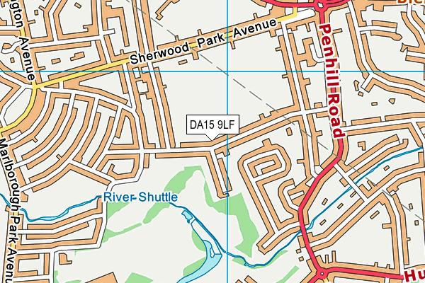 DA15 9LF map - OS VectorMap District (Ordnance Survey)