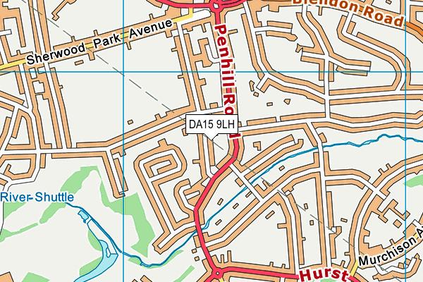 DA15 9LH map - OS VectorMap District (Ordnance Survey)