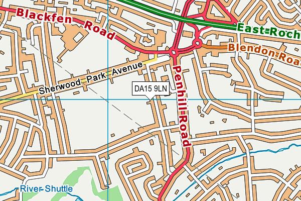 DA15 9LN map - OS VectorMap District (Ordnance Survey)