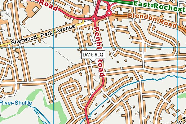 DA15 9LQ map - OS VectorMap District (Ordnance Survey)