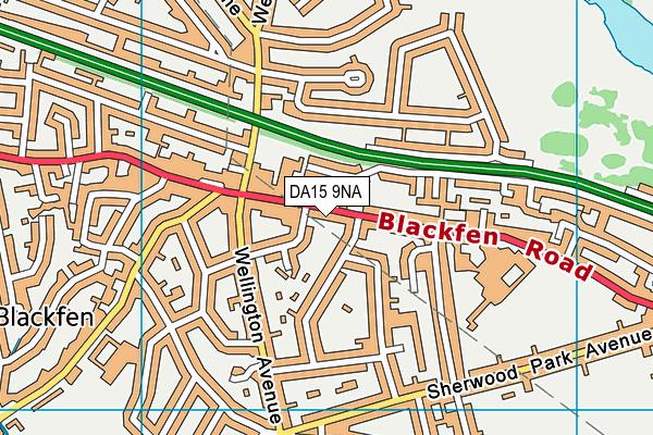 DA15 9NA map - OS VectorMap District (Ordnance Survey)