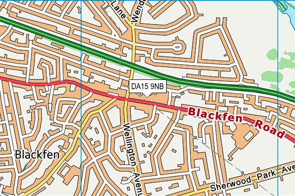 DA15 9NB map - OS VectorMap District (Ordnance Survey)