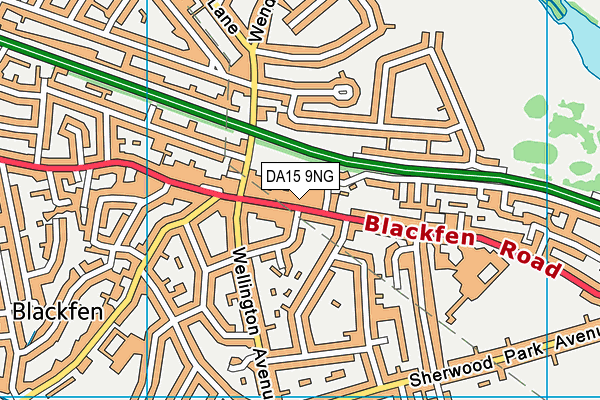 DA15 9NG map - OS VectorMap District (Ordnance Survey)