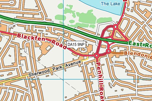 DA15 9NP map - OS VectorMap District (Ordnance Survey)