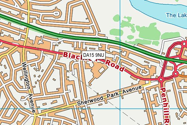 Blackfen School for Girls map (DA15 9NU) - OS VectorMap District (Ordnance Survey)