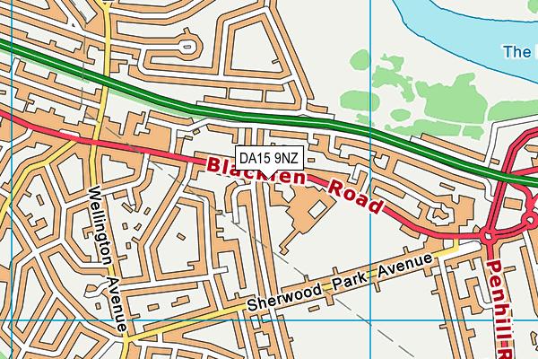 DA15 9NZ map - OS VectorMap District (Ordnance Survey)