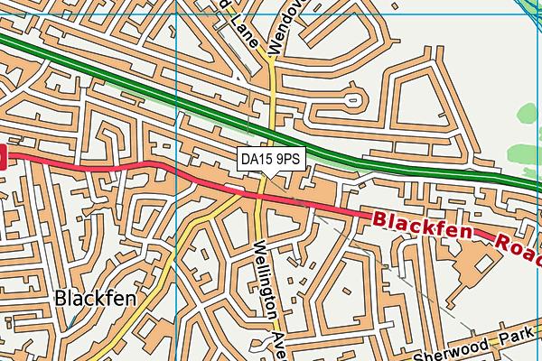 DA15 9PS map - OS VectorMap District (Ordnance Survey)