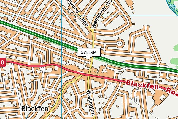 DA15 9PT map - OS VectorMap District (Ordnance Survey)