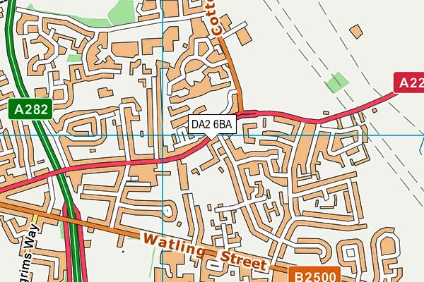 The Brent Primary School map (DA2 6BA) - OS VectorMap District (Ordnance Survey)