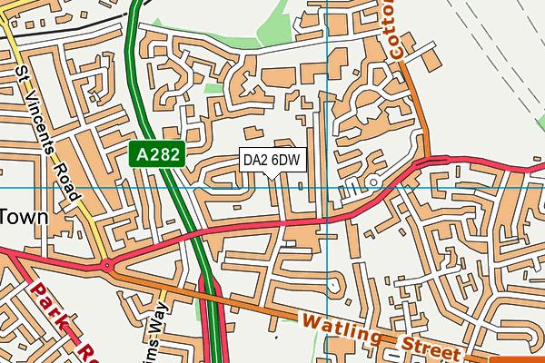 The Gateway Primary Academy map (DA2 6DW) - OS VectorMap District (Ordnance Survey)