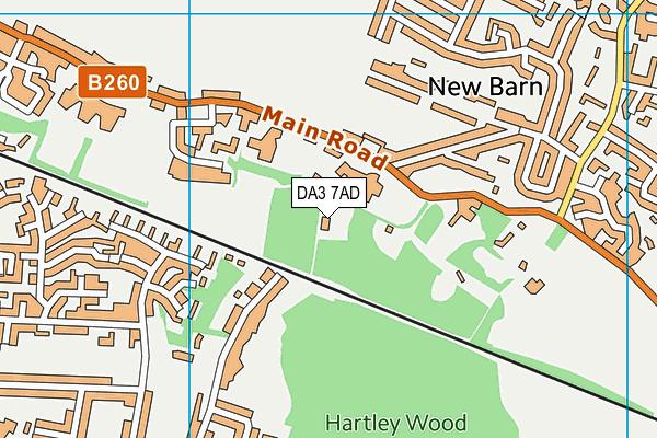 DA3 7AD map - OS VectorMap District (Ordnance Survey)
