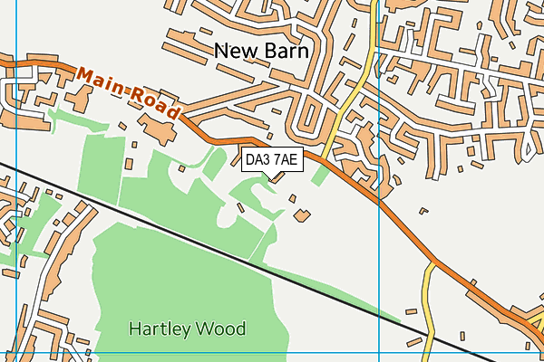 DA3 7AE map - OS VectorMap District (Ordnance Survey)