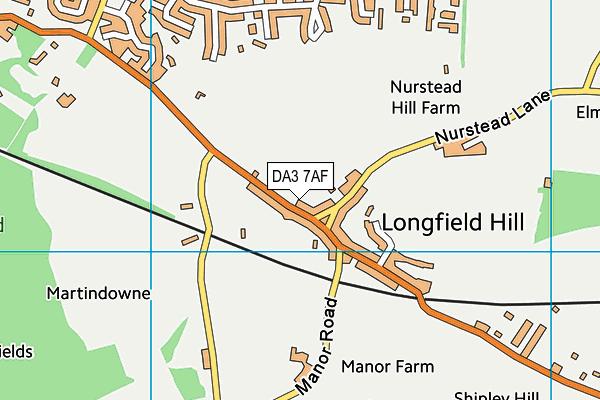 DA3 7AF map - OS VectorMap District (Ordnance Survey)