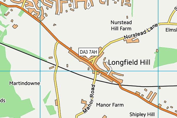 DA3 7AH map - OS VectorMap District (Ordnance Survey)