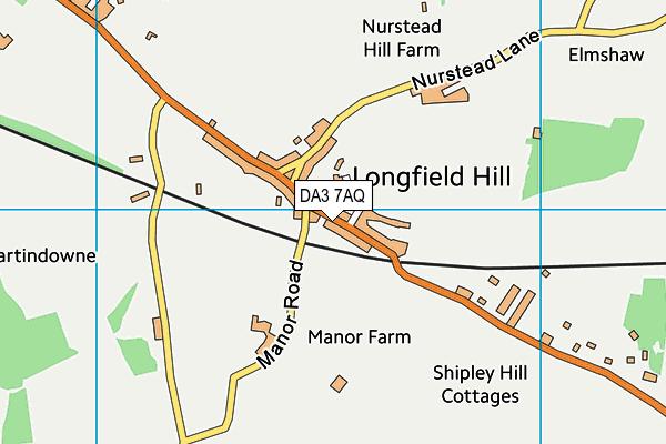 DA3 7AQ map - OS VectorMap District (Ordnance Survey)