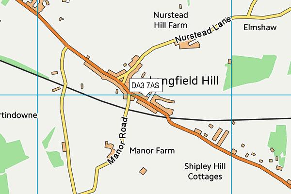 DA3 7AS map - OS VectorMap District (Ordnance Survey)