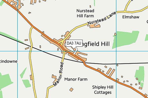 DA3 7AU map - OS VectorMap District (Ordnance Survey)