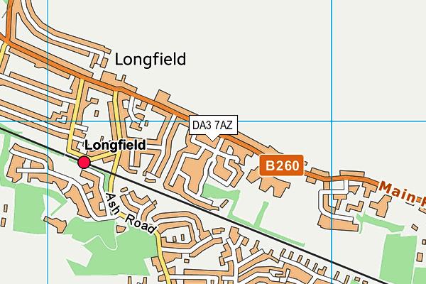 DA3 7AZ map - OS VectorMap District (Ordnance Survey)