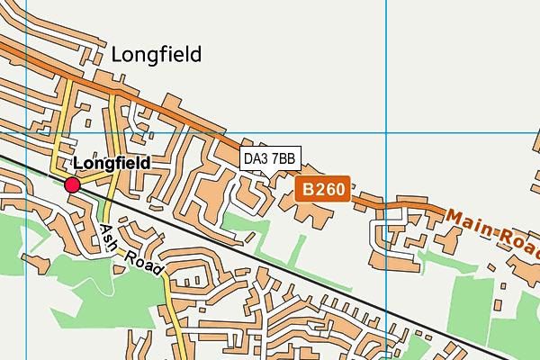 DA3 7BB map - OS VectorMap District (Ordnance Survey)