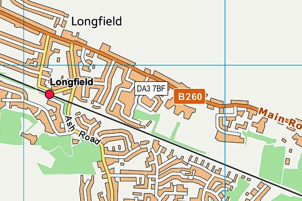 DA3 7BF map - OS VectorMap District (Ordnance Survey)