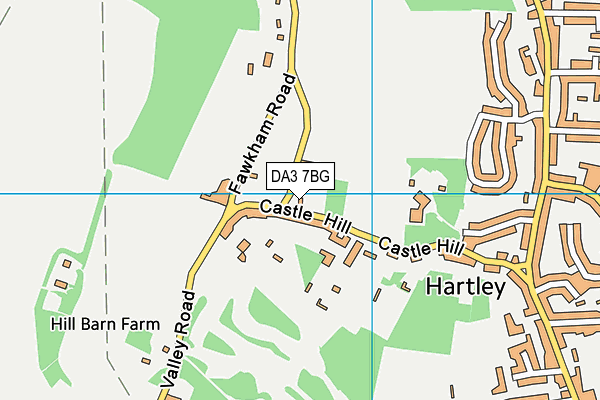 DA3 7BG map - OS VectorMap District (Ordnance Survey)