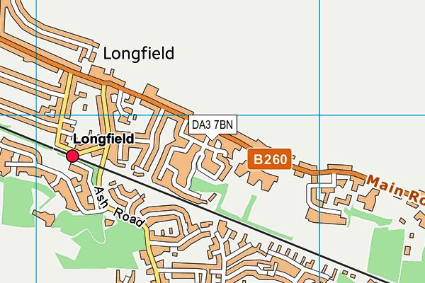 DA3 7BN map - OS VectorMap District (Ordnance Survey)