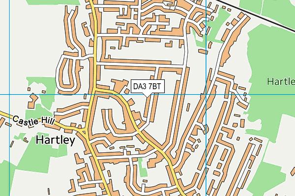 DA3 7BT map - OS VectorMap District (Ordnance Survey)