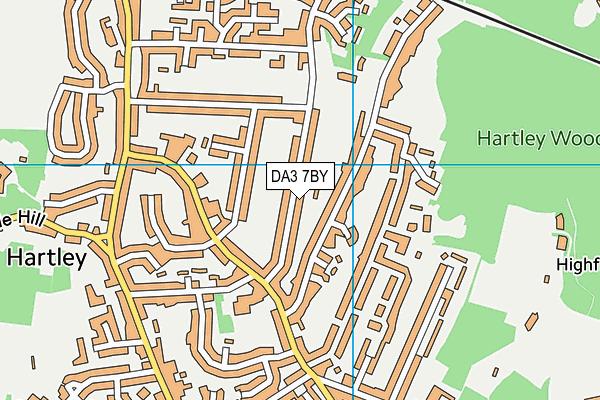 DA3 7BY map - OS VectorMap District (Ordnance Survey)