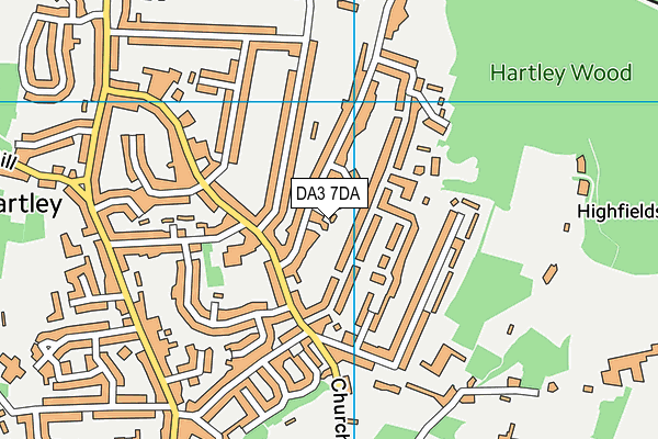 DA3 7DA map - OS VectorMap District (Ordnance Survey)