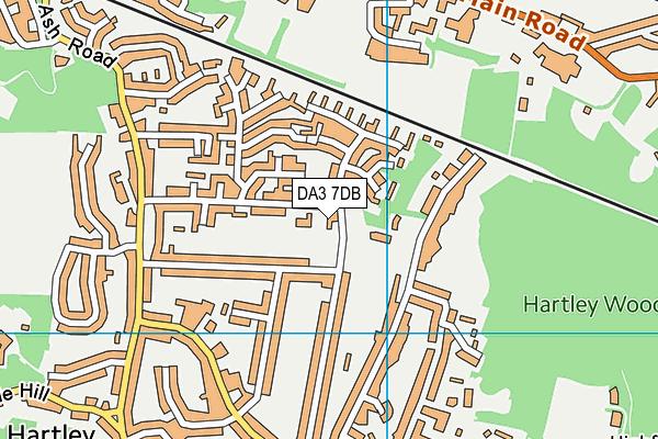 DA3 7DB map - OS VectorMap District (Ordnance Survey)