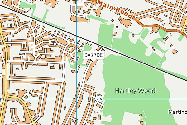 DA3 7DE map - OS VectorMap District (Ordnance Survey)