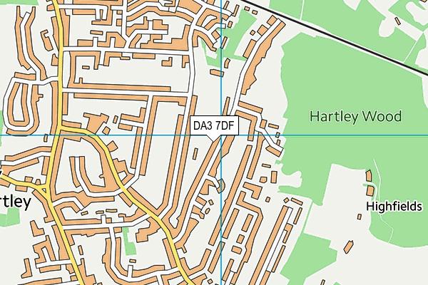 DA3 7DF map - OS VectorMap District (Ordnance Survey)