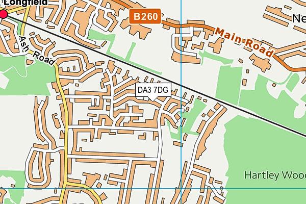 DA3 7DG map - OS VectorMap District (Ordnance Survey)
