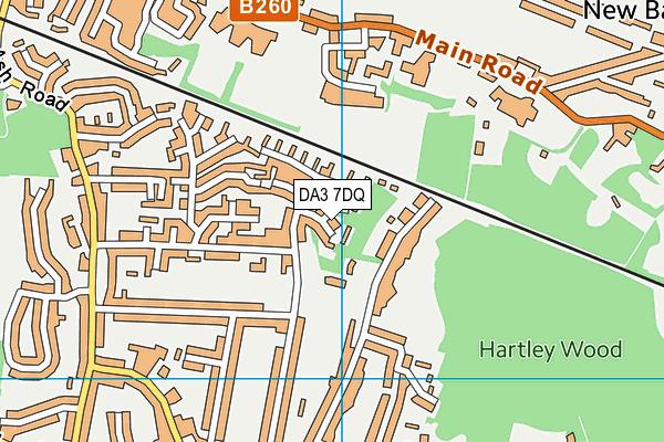 DA3 7DQ map - OS VectorMap District (Ordnance Survey)