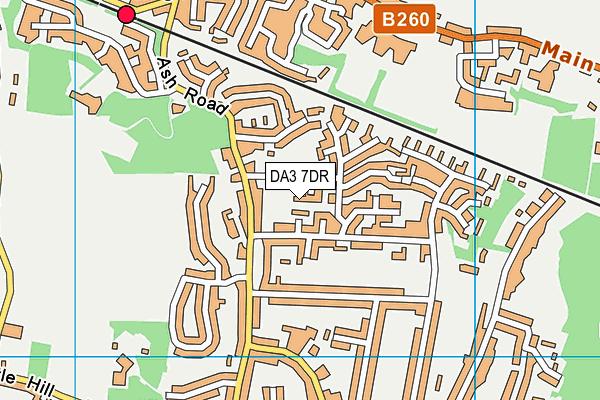 DA3 7DR map - OS VectorMap District (Ordnance Survey)