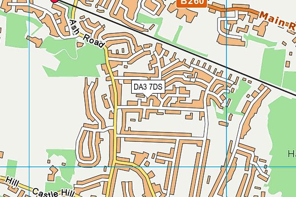 DA3 7DS map - OS VectorMap District (Ordnance Survey)