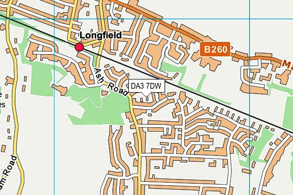 DA3 7DW map - OS VectorMap District (Ordnance Survey)