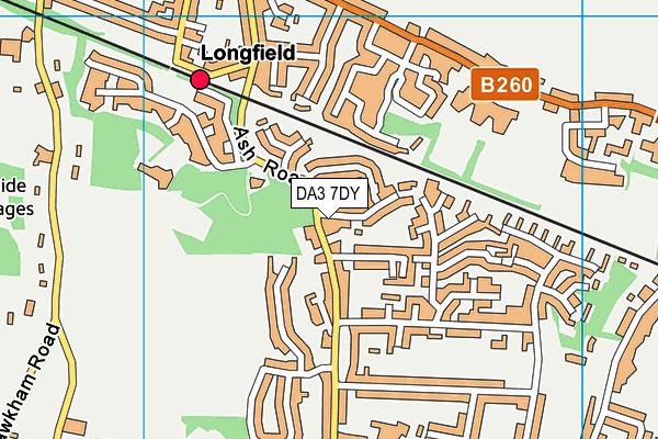 DA3 7DY map - OS VectorMap District (Ordnance Survey)