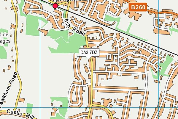 DA3 7DZ map - OS VectorMap District (Ordnance Survey)