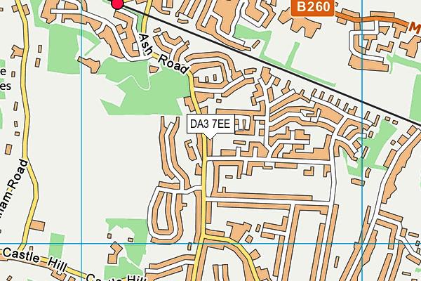 DA3 7EE map - OS VectorMap District (Ordnance Survey)