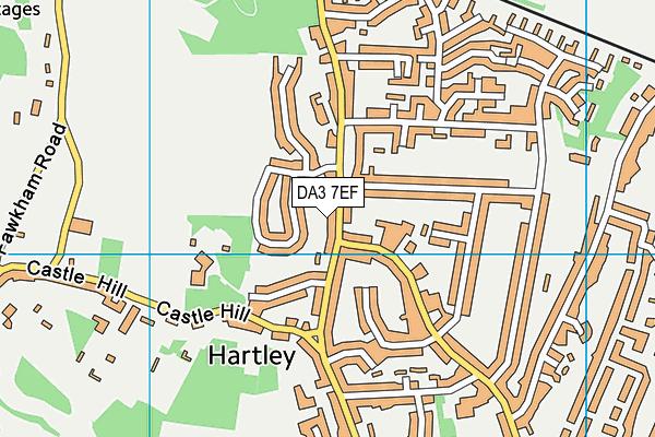 DA3 7EF map - OS VectorMap District (Ordnance Survey)