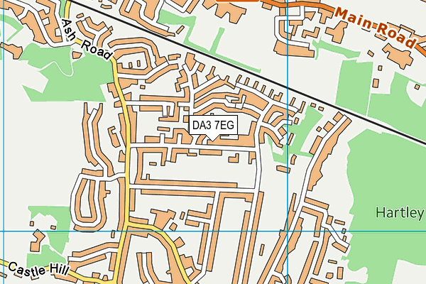 DA3 7EG map - OS VectorMap District (Ordnance Survey)