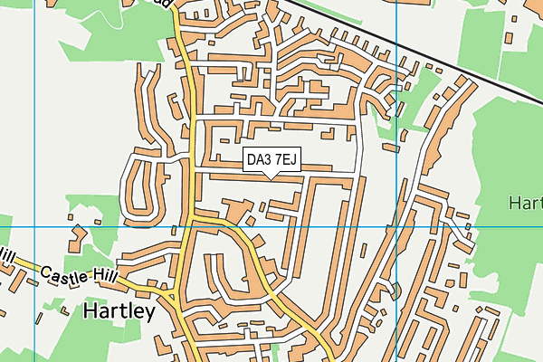 DA3 7EJ map - OS VectorMap District (Ordnance Survey)