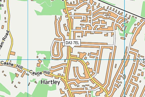 DA3 7EL map - OS VectorMap District (Ordnance Survey)
