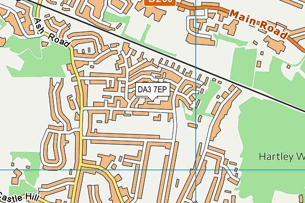 DA3 7EP map - OS VectorMap District (Ordnance Survey)