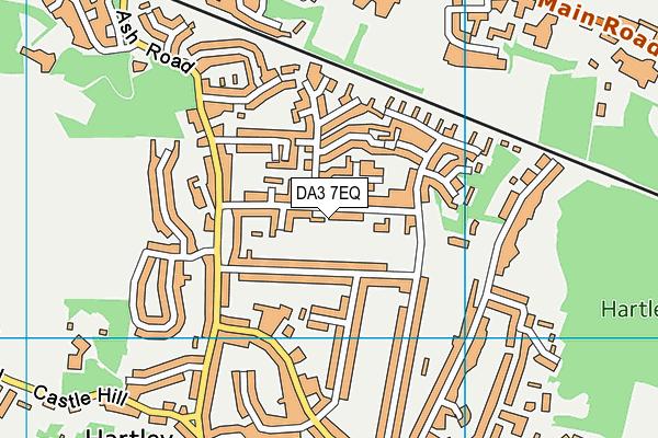 DA3 7EQ map - OS VectorMap District (Ordnance Survey)