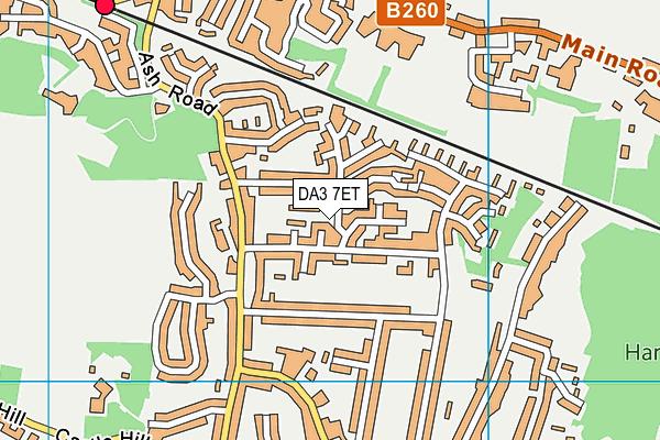 DA3 7ET map - OS VectorMap District (Ordnance Survey)