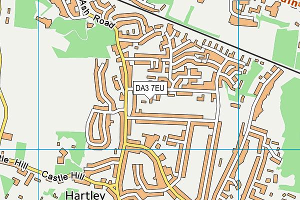 DA3 7EU map - OS VectorMap District (Ordnance Survey)